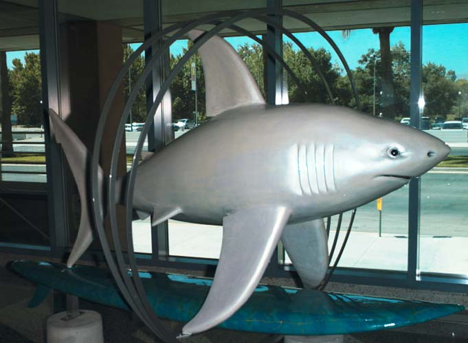 The Shark statue called A3RingSharkus
