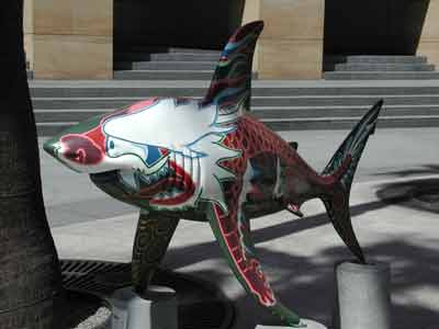 The Shark statue called ChineseDragonShark3