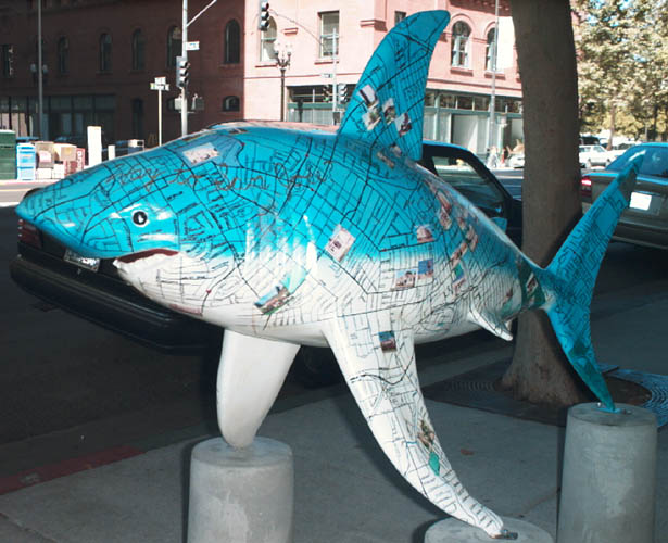 The Shark statue called DoYouKnowTheWayToSanJose2