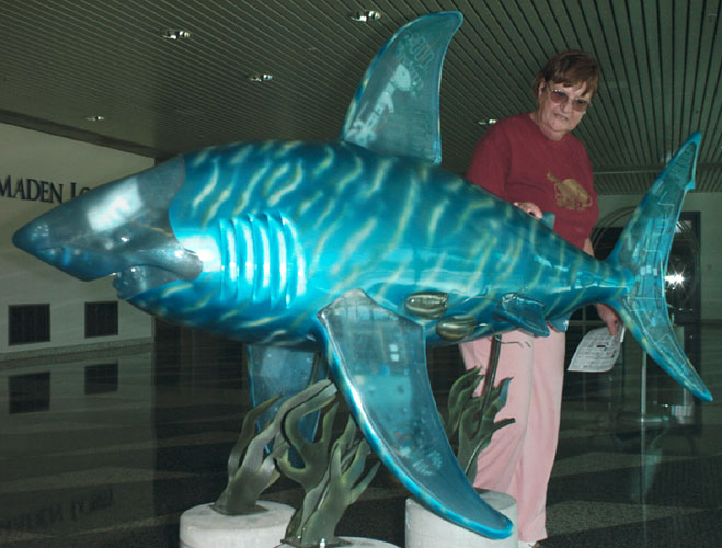 The Shark statue called DoYouWantFrysWithThatFish