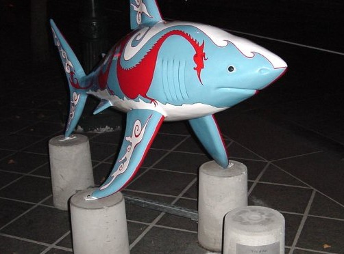 The Shark statue called Fire_n_Ice1
