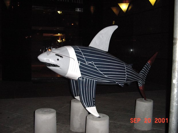 The Shark statue called Lex1