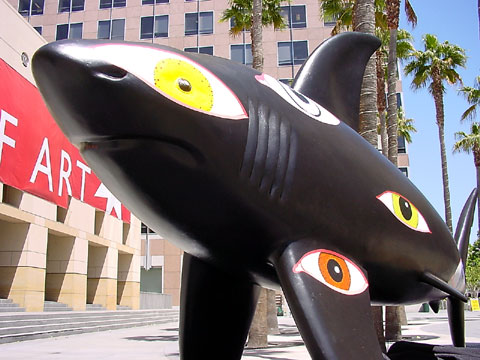 The Shark statue called LookingAround