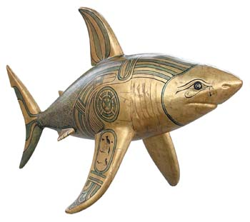 The Shark statue called Shark-Ra