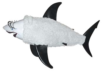 The Shark statue called SharkinSheepClothing