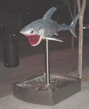 The Shark statue called ShredHeadShark
